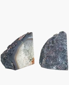 Agate is a stone of balance + helps eliminate negativity. And these bookends are positively gorgeous!