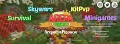 ArepaCraft Network Ip: mc.arepacraft.com.ve Versión: Desde la 1.8 asta la 1.9.4  Arreglado el problema de algunos usuarios con el lag
