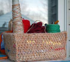 Crochet Scrap Basket