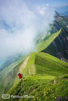The Hardergrat Trail from Interlaken to Brienz, Switzerland