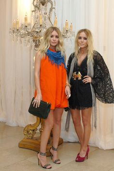 orange babydoll with blue scarf
