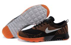 competitive price 8f266 13e68 Nike Air Max 87 Thea Flyknit Herenschoenen Zwart Oranje Wit Nike Online  Store, Nike Air