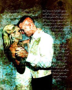 Custom Canvas Gift Shakespeare Song Lyrics Wedding by Studiojones1, $109.00