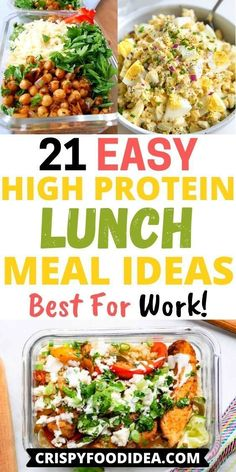High Protein Lunch Ideas, High Protein Meal Prep, Easy Healthy Meal Prep, Healthy Lunches For Work, Cold Lunches, Work Meals, High Protein Recipes, Lunch Snacks, Lunch Recipes