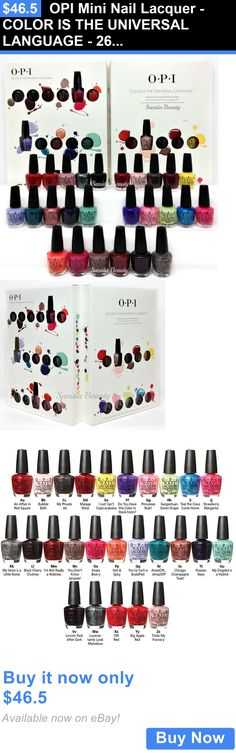Nails: Opi Mini Nail Lacquer - Color Is The Universal Language - 26 Colors X 0.125Oz BUY IT NOW ONLY: $46.5