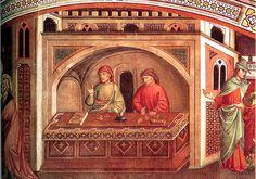 Niccolo di Pietro Gerini, Calling of St. Matthew, ca. 1380s, Prato | Flickr - Photo Sharing!