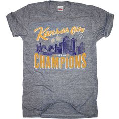 CITY OF CHAMPIONS Join the Kansas City Sports Commission & Foundation in celebrating the City of Champions with this commemorative Charlie Hustle specially designed shirt.