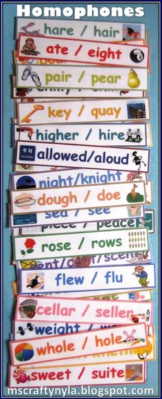 Homophone Word Wall for Visual Learners $