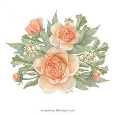 Flores e folhas bonitas