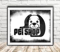 Dog print Pet shop quotes print Dog face by InstantDownloadArt1