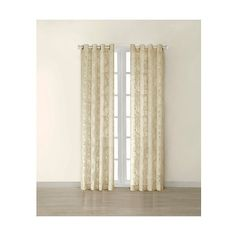 Flor Paisley Burn-Out Sheer Curtain Panel ($35) ❤ liked on Polyvore featuring home, home decor, window treatments, curtains, tan, grommet sheer curtain panels, grommet curtains, target sheer curtains, sheer curtain panels and grommet valance