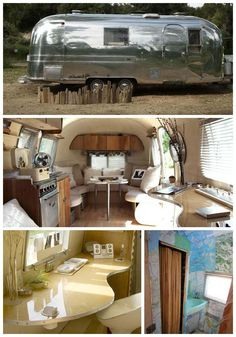 """1967 Airstream Trade Wind """"silver trailer"""" interior by Kristiana Spaulding- I love my camper but would really love to re-create a retro one like this dream for hubby and I! Airstream Campers, Airstream Remodel, Airstream Renovation, Airstream Interior, Trailer Interior, Remodeled Campers, Airstream Decor, Rv Travel Trailers, Travel Trailer Remodel"""
