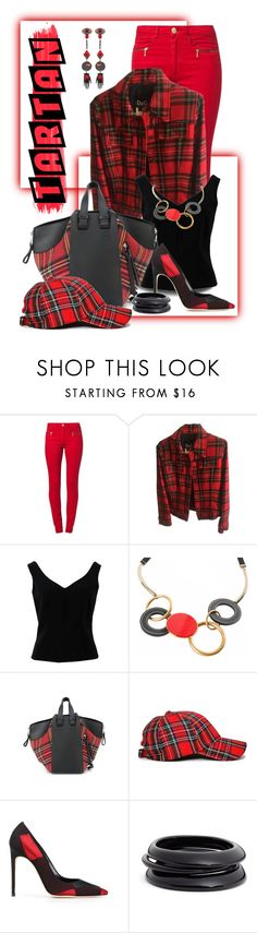 """""""Tartan... Red"""" by marvy1 ❤ liked on Polyvore featuring Zalando, Dolce&Gabbana, ADAM, Marni, Loewe, Nasty Gal, Dsquared2 and ZENZii"""