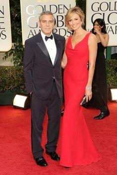 George Clooney and Stacey Keibler attend the 2012 Golden Globe Awards in Beverly Hills on Jan. 15.