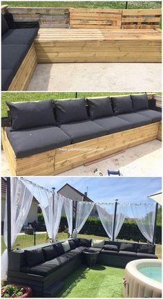 Wood Pallet Patio Garden Couch