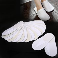 db87e632edde HURRISE Disposable Guest Slippers Travel Hotel Slippers SPA Slipper Shoes  10 Pairs Lot Comfortable New