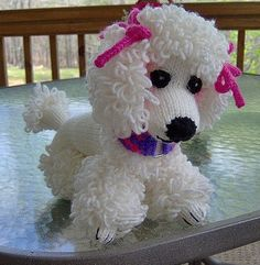 Free knitting pattern for Poodle and more dog knitting patterns