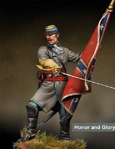 Guerra da Sucessão - Oficial confederado (War of Succession - confederate officer)