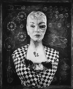 Carol Golemboski The Incredible Aging Woman,   from That Old Black and White Magic series 2012