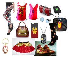 """""""Iron Man"""" by katlover4 on Polyvore featuring Casetify, NIKE, Marvel, Loungefly and Cufflinks, Inc."""