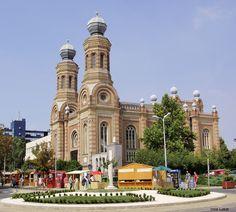 Synagogue of Szombathely (pr. Hungary Gizella Kulchar Bajusz (Bajus) was born in Szombathely (Vas) Cathedral Basilica, Cathedral Church, Temples, Beautiful Sky, Beautiful Places, Great Works Of Art, Heart Of Europe, Jewish History, Place Of Worship
