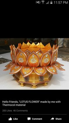 Decoration for ganpati - Pin By Sneha Patil Daxini On Ganpati Decorations Thali Decoration Ideas, Diy Diwali Decorations, Decoration For Ganpati, Festival Decorations, Diwali Craft, Diwali Diy, Indian Crafts, Indian Home Decor, Ganesh Chaturthi Decoration