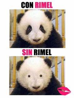 Con Rimel y Sin Rimel http://www.grafichistes.com/graficos/con-rimel-y-sin-rimel/ - #Chistes #Humor http://www.grafichistes.com