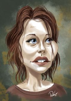 Lauren Cohan as Maggie in #TWD - caricature by Ribosio