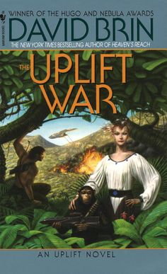 The Uplift War by David Brin. An amazing science fiction series.