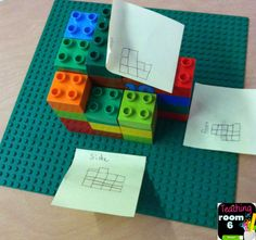 Volume idea: Using Legos to find additive volume. Kids work in groups. Lots of discussion as well as math. Math Strategies, Math Resources, Math Activities, Instructional Strategies, Math Games, Fifth Grade Math, Sixth Grade, Montessori Math, Homeschool Math