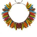 Les Poulettes Jewels – Tagua Necklet Summer Multicolor Flame Jewelery, Gems, Summer, Jewerly, Fabric, Schmuck, Jewlery, Jewels, Summer Time