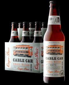 Stranger & Stranger's lovely label and packaging for SF craft brewery Cable Car