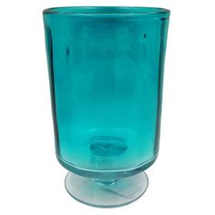 Picture of Turquoise Glass Vase- 8 in.