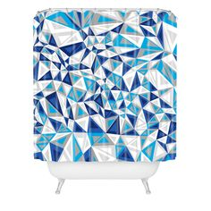 $90 Gneural Triad Illusion Iced Shower Curtain | DENY Designs Home Accessories