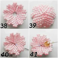 Russian Masterclass step by step flower ~ Seed Bead Tutorials