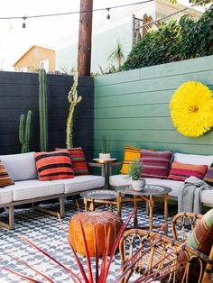 Outdoor patio bohemian