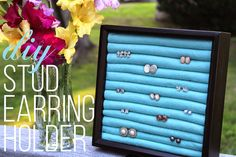 DIY Stud Earring Holder: a super easy, inexpensive way to store your studs! makegrowdo.com