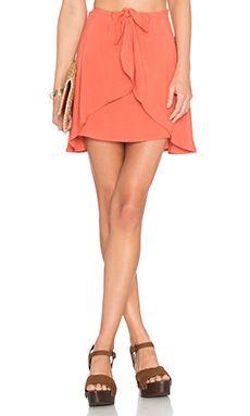 fdaeb53e0d Shop for For Love & Lemons Sweet Jane Wrap Skirt in Terracotta at  REVOLVE.