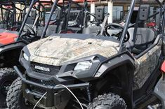 Used 2016 Honda Pioneer 1000 EPS Honda Phantom Camo ATVs For Sale in Wisconsin. 2016 Honda Pioneer 1000 EPS Honda Phantom Camo, 2016 Honda® Pioneer® 1000 EPS Honda Phantom Camo® Not Just Bigger: Better. The outdoors is meant to be explored. The highest hills, the deepest canyons, and the farthest reaches of the forests all lie in wait. And now, we bring you an entirely new vehicle that can get you there. The all-new Pioneer® 1000 is the world s preeminent side-by-side, both in the…