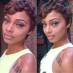 Great style for growing out your pixie cut!