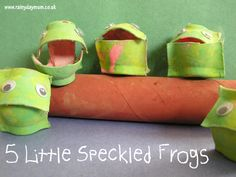 5 little speckled frogs craft for toddlers and pre-schoolers using recycle materials