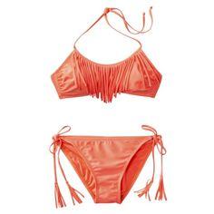 Xhilaration® Juniors 2-Piece Bikini Swimsuit -Coral