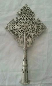 Handcrafted Ethiopian Orthodox Processional Cross,Christianity,African