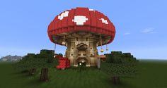 Mushroom Project Amazing minecraft Minecraft creations Minecraft crafts