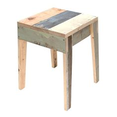 Scrapwood Chair design: Piet Hein Eek - DIY Home Project Pallet Stool, Wood Stool, Pallet Art, Deco Furniture, Pallet Furniture, Furniture Design, System Furniture, Decoupage Furniture, Pipe Furniture