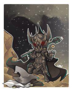 Sauron chibi by haru-chibaku on deviantart