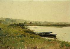 Eliseo Meifrén Roig. El Marne, Francia. Óleo sobre lienzo. Firmado y fechado el 23 de junio de 1889. 33 x 47 cm. Ciro ediciones, 55.
