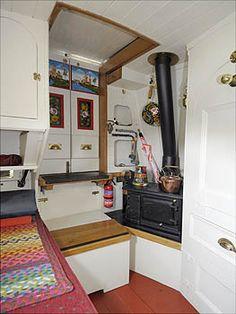 Narrowboat Interiors, Cabin Interiors, Barge Interior, Best Interior, Boat House, Tiny House, Ian Wilson, Canal Boat Interior, Canal Barge