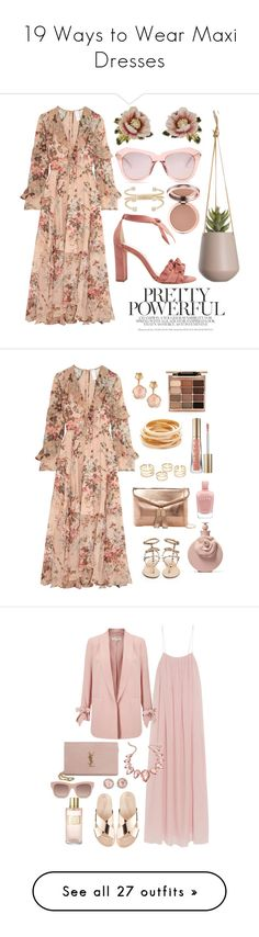 """19 Ways to Wear Maxi Dresses"" by polyvore-editorial ❤ liked on Polyvore featuring maxidresses, waystowear, Zimmermann, Les Néréides, Karen Walker, Alexandre Birman, Jennie Kwon, Valentino, Urban Expressions and Pasquale Bruni"