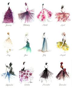 Paper Fashion 2014 Calendar Thank you Katie Rodgers, the illustrator behind Paper Fashion for sending me this beautiful calendar A Year of Gowns! Arte Fashion, Paper Fashion, Fashion Fashion, Dubai Fashion, Flower Fashion, Fashion Brands, Illustration Sketches, Art Sketches, Art Drawings